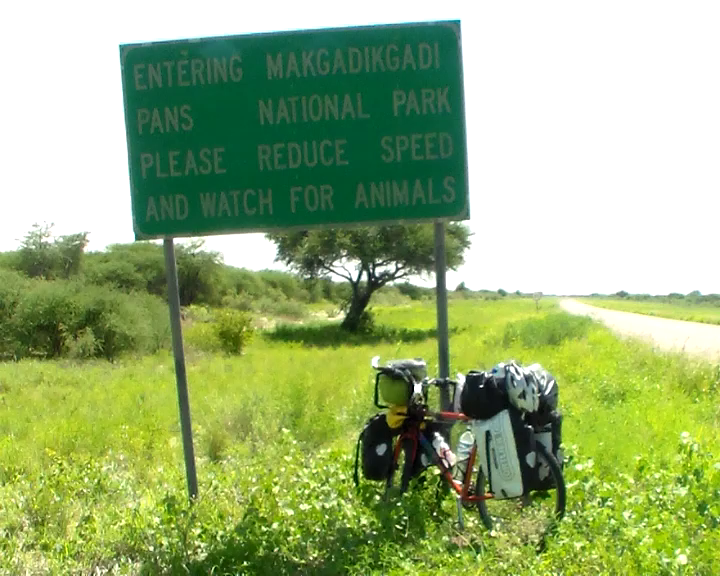 Start of wildlife area - Makgadikgadi Park