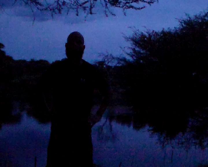 Scary:The strange ginger beard man camping in my yard