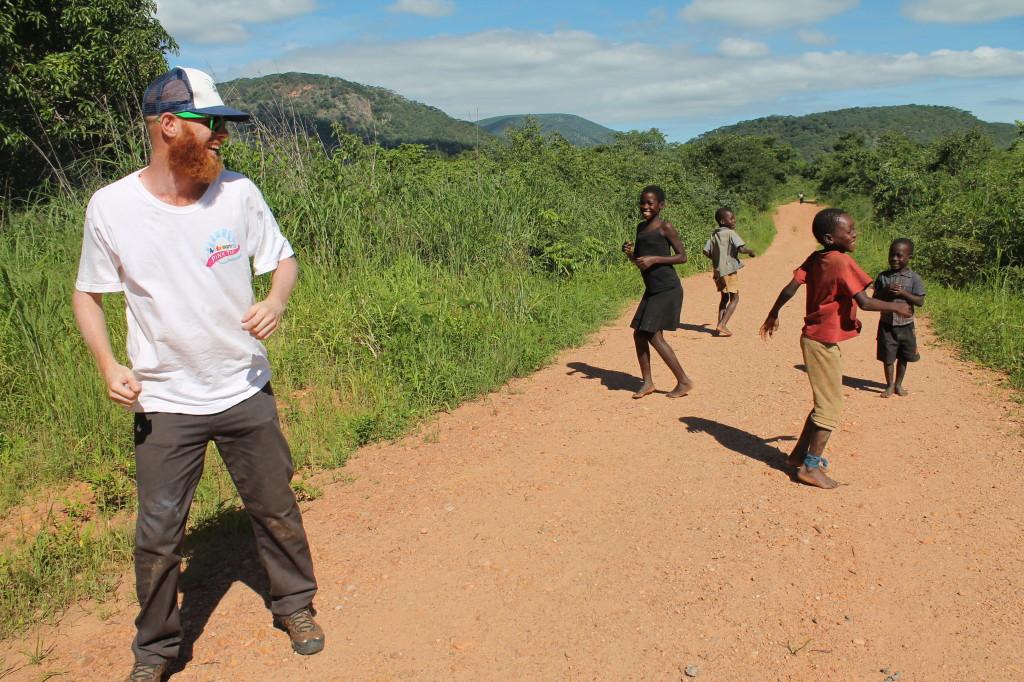 Dancing with kids in Mpanshya