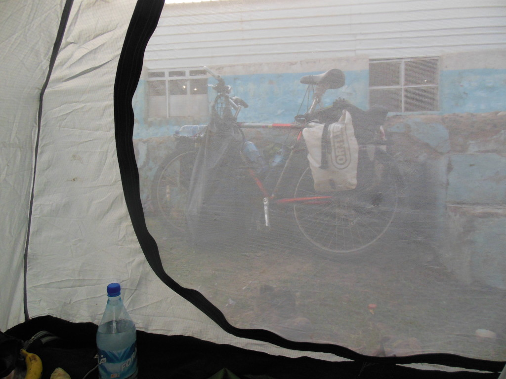 """Sleeping: A checkpoint, a dingy hotel and one unpleasant night in a police compound where two middle aged women had been placed in a cell right next to the tent. A fight broke out between the guards and two young men over whatever was happening and I had the unpleasant experience of listening to a """"whipping"""" in the courtyard next to the compound."""