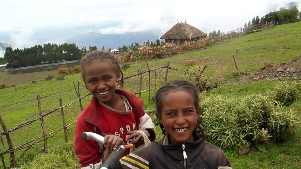 Kids in the Mountains, the little girl on the right was such an angry little thing when she came first - made it my business to get a smile out of her and after that, she never stopped